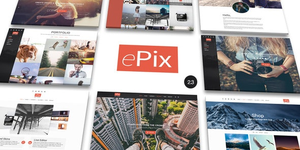 ePix - Fullscreen Photography WordPress Theme - Photography Creative