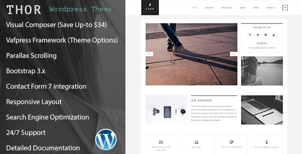 Thor  - Responsive Creative Portfolio WordPress Theme - Creative WordPress