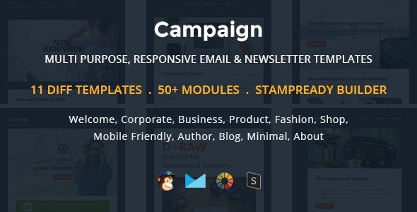 Campaign - Multipurpose Responsive Email Newletter Templates  - Newsletters Email Templates