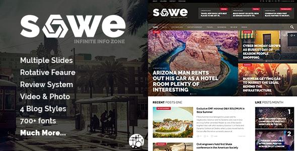 Sowe - Future Magazine WordPress Theme - News / Editorial Blog / Magazine