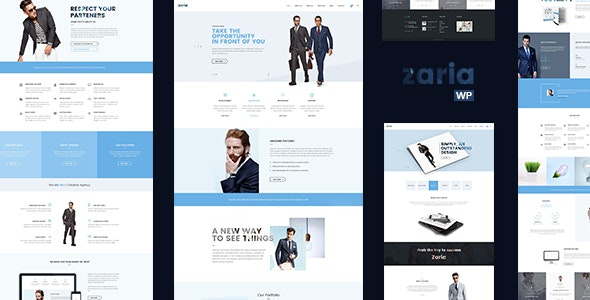 Zaria – Business Consulting WordPress Theme - Business Corporate