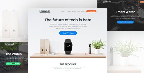 Single Product Landing Page WordPress Theme - Proland