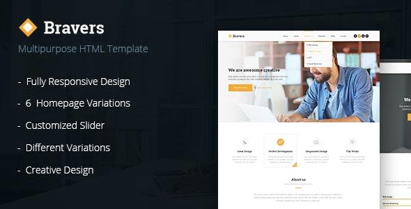 Bravers - Multipurpose HTML5 Template - Corporate Site Templates