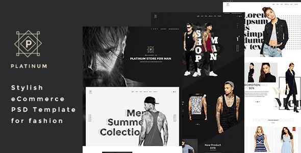 Platinum - Stylish ecommerce PSD Template for Fashion - Fashion Retail