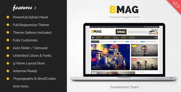 BMAG - Magazine Responsive Blogger Template - Blogger Blogging