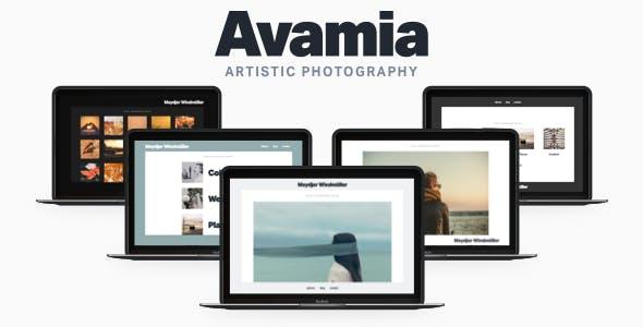 Avamia — Artistic Photography Theme