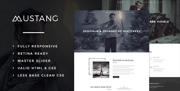 Mustang - Bold & Minimal Theme - Creative WordPress