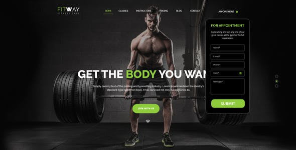 FITWAY - Gym & Fitness Psd Template