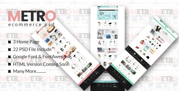 METRO-eCommerce PSD Template - Shopping Retail