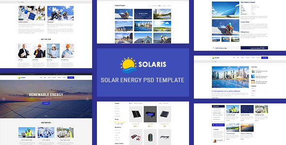Solaris - Solar Environmental Energy Template - Business Corporate