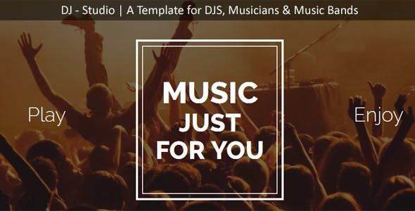 DJ Studio - DJ's, Music Band, Muscians One Page Template