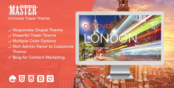 Master - Ultimate Travel Theme for Drupal - Travel Retail