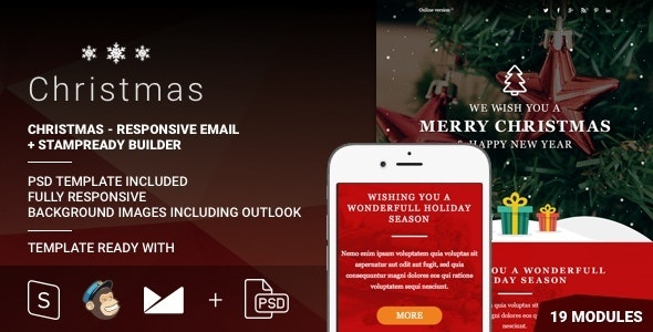Christmas - Responsive Email + StampReady Builder - Email Templates Marketing