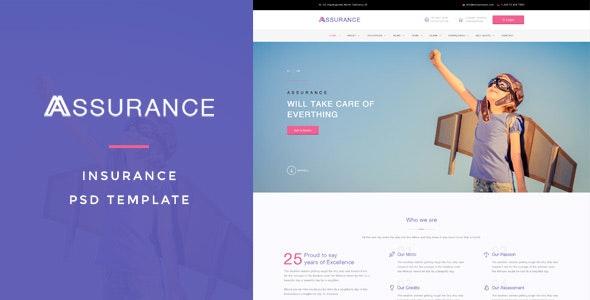 Assurance - Insurance PSD Template - Business Corporate