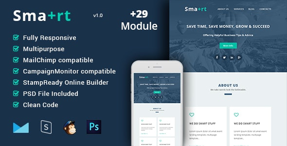 Smart - Multipurpose & Responsive Email Template + Builder - Email Templates Marketing