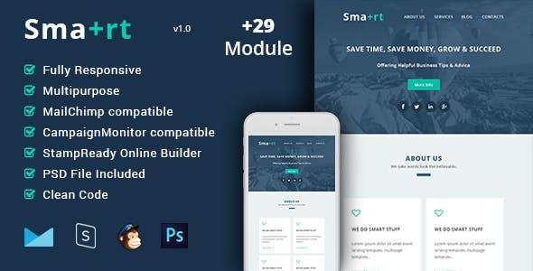 Smart - Multipurpose & Responsive Email Template + Builder
