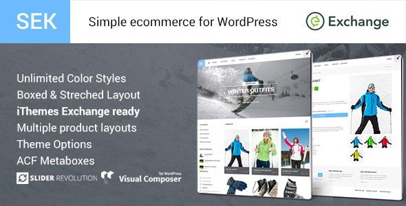 SEK iThemes Exchange Shop WordPress Theme - Miscellaneous eCommerce