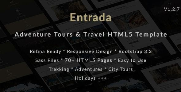 Entrada | Tour Travel Booking HTML Template - Travel Retail