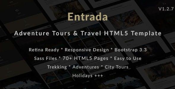 Entrada | Tour Travel Booking HTML Template
