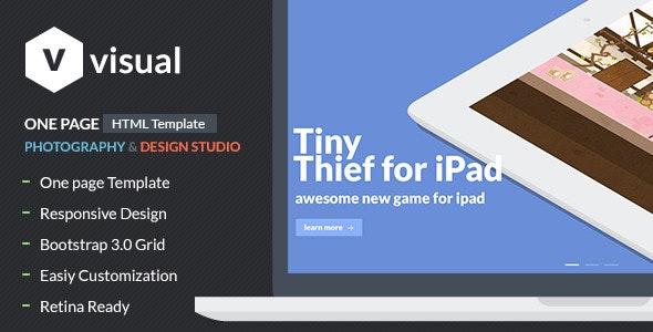 Visual - Multipurpose Flat Theme - Creative Site Templates