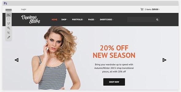 Decima eCommerce PSD Template - Retail Photoshop