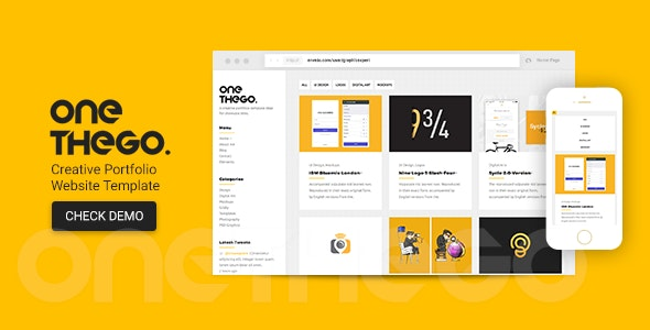 OneTheGo | Creative Agency Showcase Responsive Site Template - Creative Site Templates