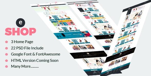 eShop-Multipurpose ecommerce PSD Template - Shopping Retail