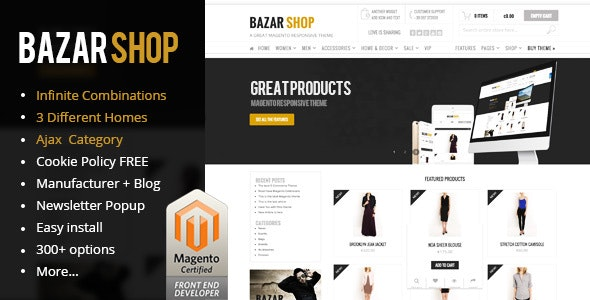 Bazar Shop | MultiStore MAGENTO Theme Responsive - Magento eCommerce