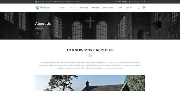 Petter - Funeral Service PSD Template