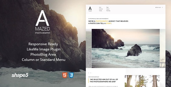 Amazed Photography - Responsive Photography Template - Photography Creative