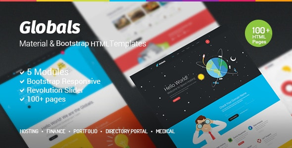 Globals - Material & Bootstrap HTML Template - Creative Site Templates