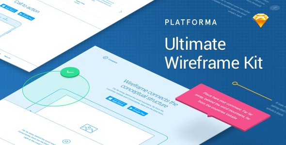 Platforma: Ultimate Wireframe Kit of 200+ Layouts for Sketch - Creative Sketch