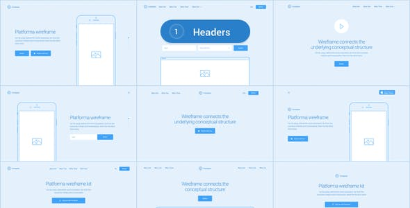 Platforma: Ultimate Wireframe Kit of 200+ Layouts for Sketch