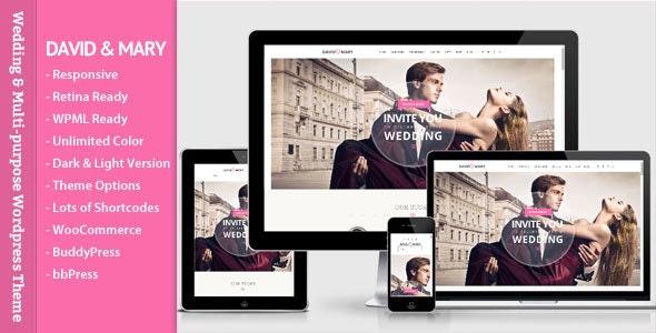 David & mary- Wedding & Multi-purpose Theme - Wedding WordPress