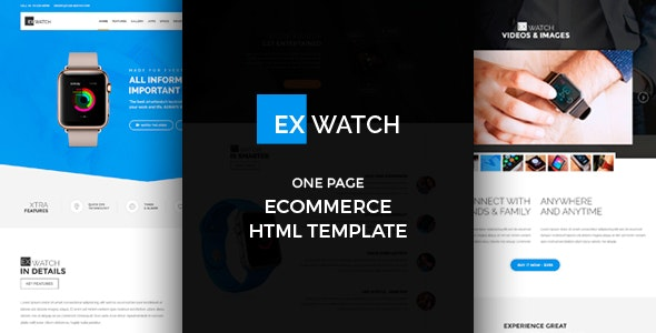 Ex Watch - Single Product eCommerce HTML - Retail Site Templates