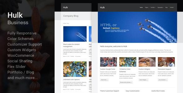 Hulk Business/Portfolio Wordpress Theme - Business Corporate
