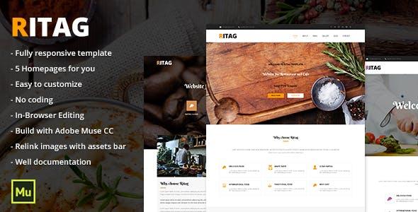 Download Ritag - Responsive Food & Restaurant Template