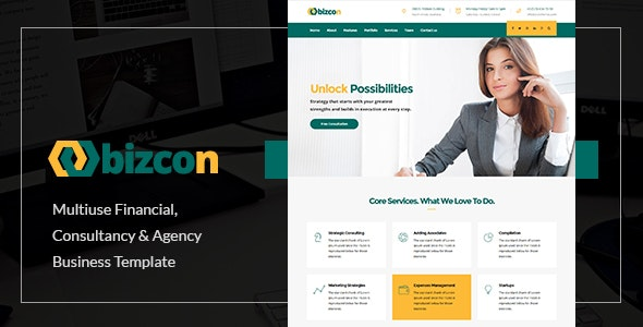 Bizcon | Responsive Multi-purpose HTML5 Template - Business Corporate