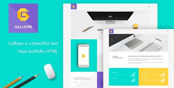 Galliope - Agency/Portfolio HTML Template - Portfolio Creative