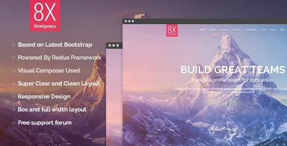8X - Creative Multi-Purpose WordPress Theme - Creative WordPress