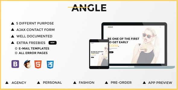 Angle   Responsive Coming Soon Template - Under Construction Specialty Pages