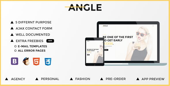 Angle | Responsive Coming Soon Template