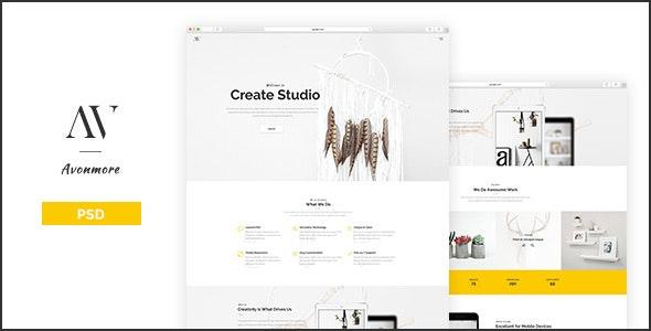 Avonmore - Creative Portfolio / Blog PSD Template - Creative Photoshop