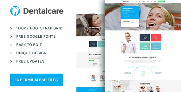 Dental Care : Health & Medical PSD Template - Health & Beauty Retail
