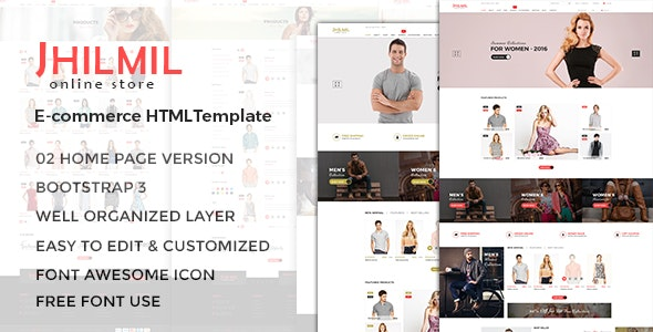 eCommerce HTML Template - Jhilmil - Fashion Retail