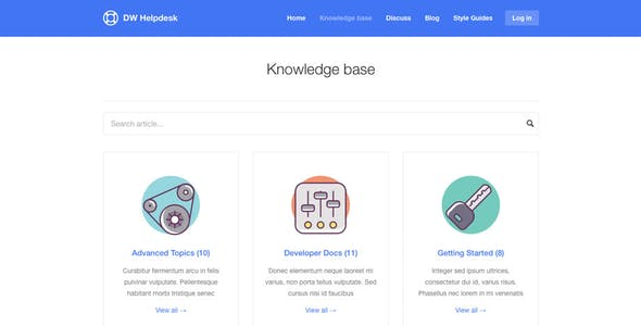 DW Helpdesk - Knowledge Base / Q&A / FAQ WordPress Theme