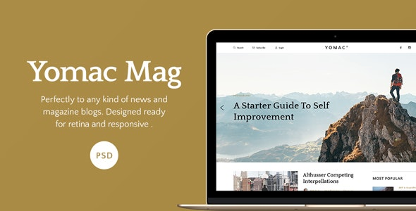 Yomac — Magazine and Blog PSD Template - Photoshop UI Templates