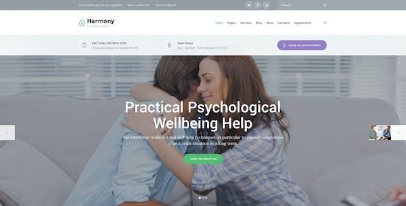 Harmony - psychologist and psychotherapist PSD theme