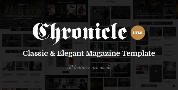 Chronicle - Premium News and Magazine HTML5 Template - Corporate Site Templates