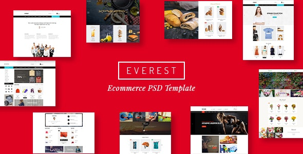 Everest - Multi-Purpose eCommerce Business PSD - Retail PSD Templates